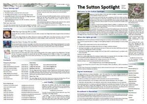 Sutton Spotlight - June 2011