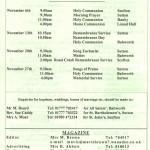 Church Service Times - November 2011