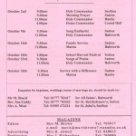 Church Service Times - October 2011