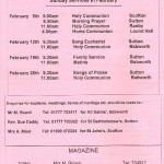 Church Service Times - February 2012