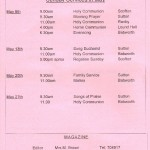 Church Service Times - May 2012