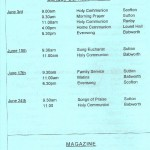 Church Service Times - June 2012