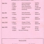 Church Service Times (Updated) - September 2012