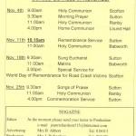 Church Service Times - November 2012