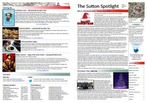 Sutton Spotlight - December 2012