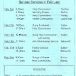 Church Service Times - February 2013