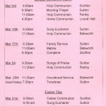 Church Service Times - March 2013