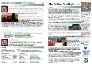 Sutton Spotlight - March 2013