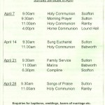 Church Service Times - April 2013