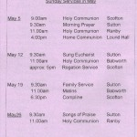 Church Service Times - May 2013