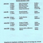 Church Service Times - June 2013