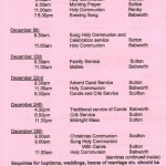 Church Service Times - December 2013