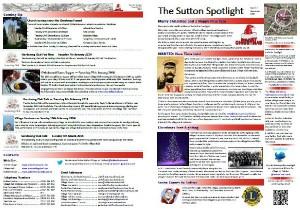 Sutton Spotlight - December 2013