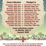 Christmas Bin Dates - December 2014 to January 2015