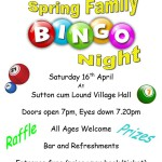 Spring Family Bingo Night - Saturday 16th April