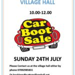 Village Hall Car Boot Sale - 24 July 2016