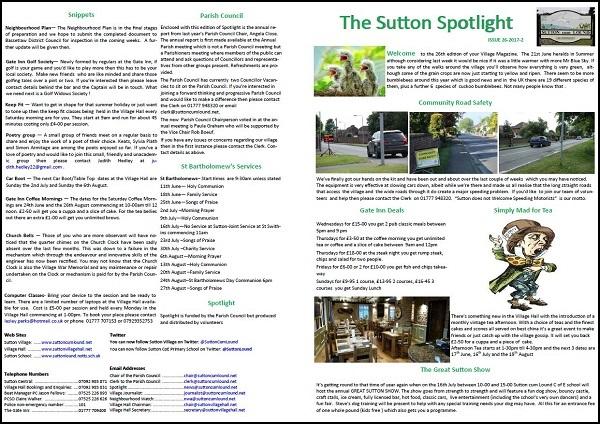 Sutton Spotlight - June 2017