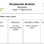 Portland Place Roadworks - 12 to 23 March 2018