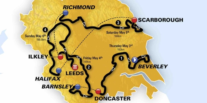 Tour de Yorkshire Road Closures - May 2018