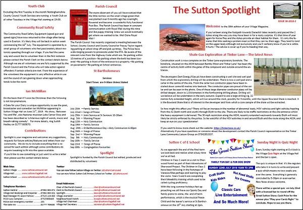 Sutton Spotlight - June 2018