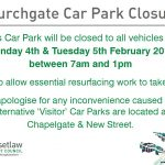 Churchgate Car Park Closure - February 2019