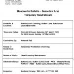 Station Road Crossing Closures - 14 to 15 March 2020